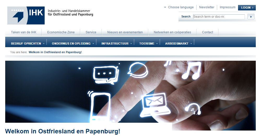 Duitse IHK introduceert Nederlandstalige website