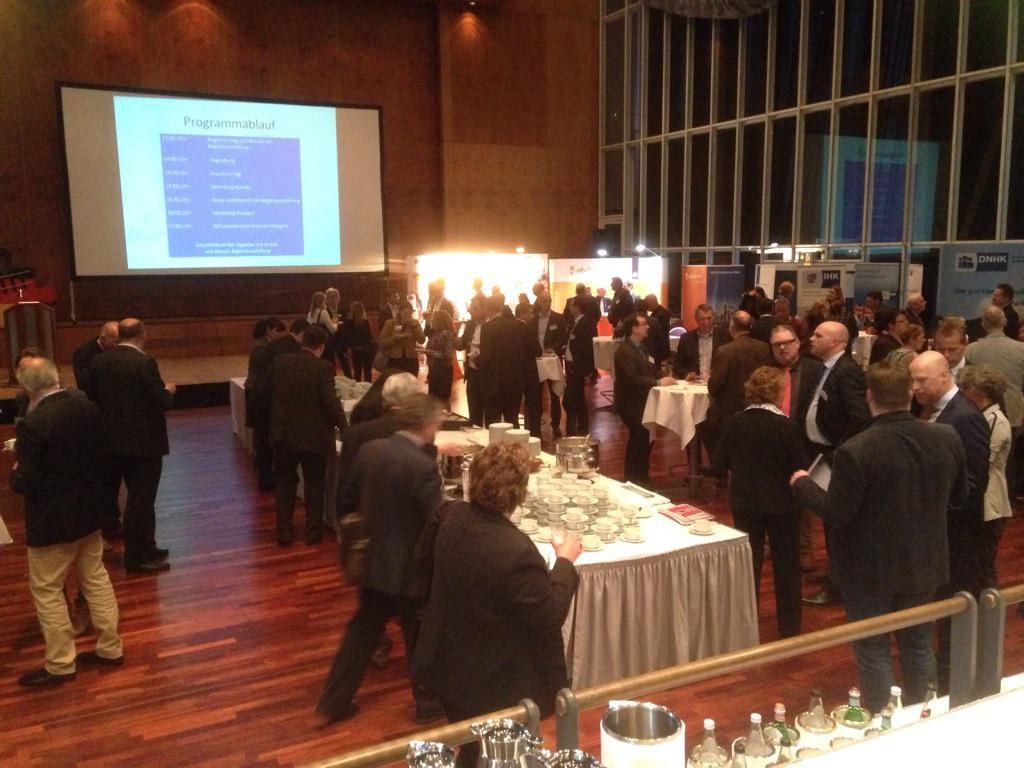 Potentiële klanten ontmoeten tijdens Duits-Nederlandse Handelsdag in Papenburg
