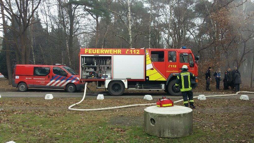 'Hete' oefening voor grensoverschrijdende brandweerkorpsen