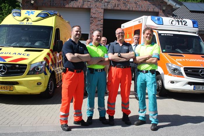 Deutsche Rettungsfahrzeuge werden in den Niederlanden eingesetzt