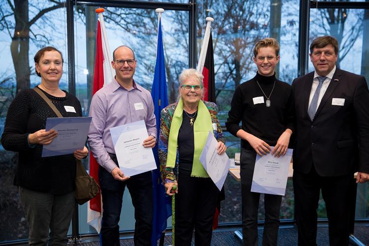 Sieger des Fotowettbewerbs der Euregio Rhein-Waal geehrt