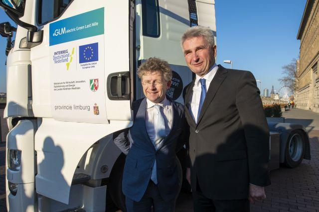 Nederlands-Duits project presenteert eerste zware e-trucks