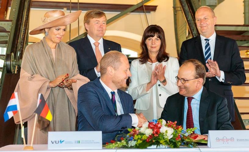 Niederländisches Königspaar zu Besuch in Brandenburg