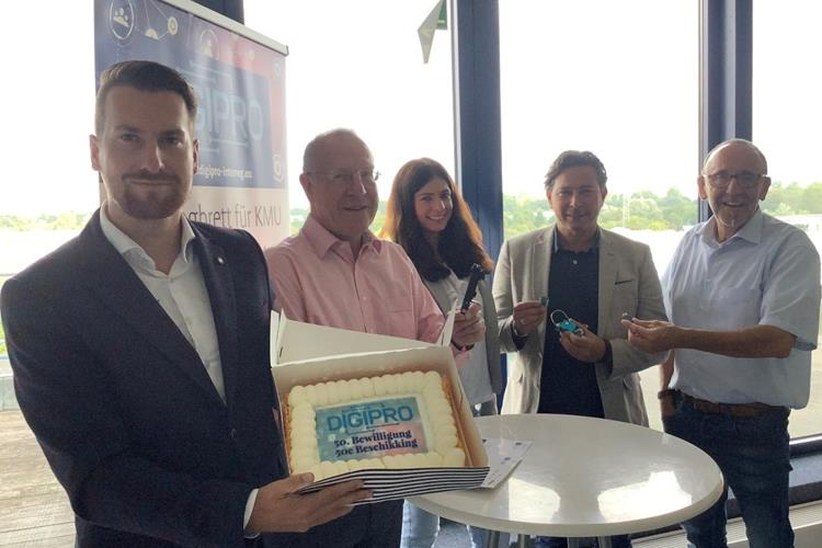 Digipro feiert 50. Projektbewilligung