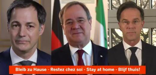 """Nederlandse, Duitse en Belgische minister-presidenten in gezamenlijke oproep: """"Blijf thuis"""""""
