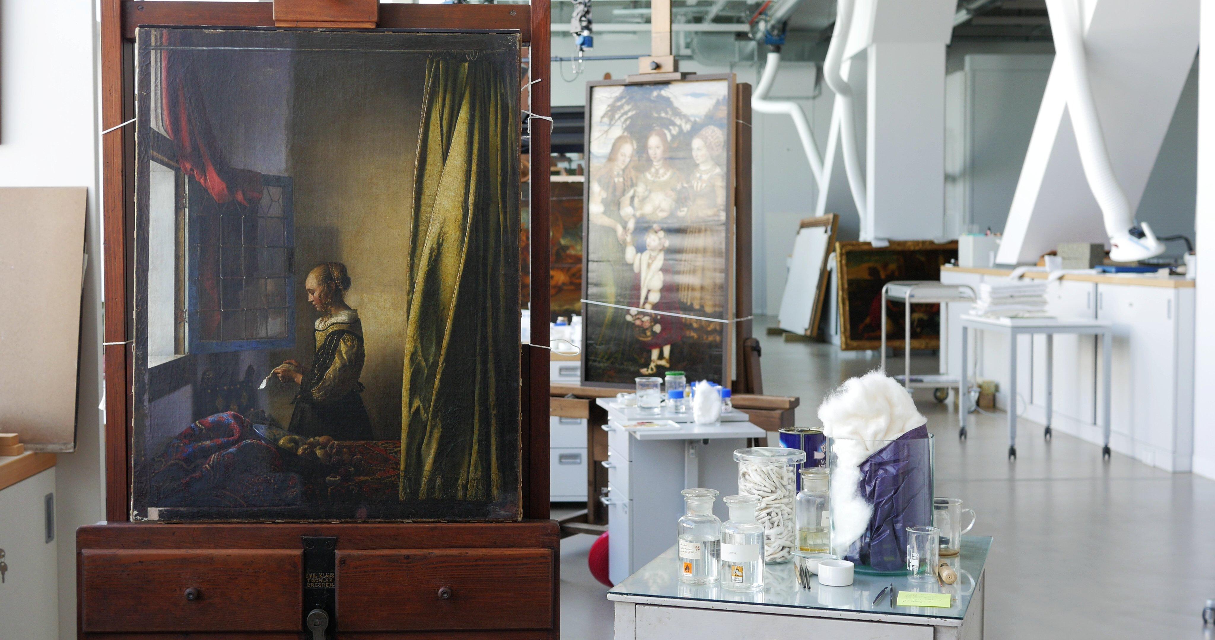 Rutte en Merkel openen Vermeer-tentoonstelling in Dresden