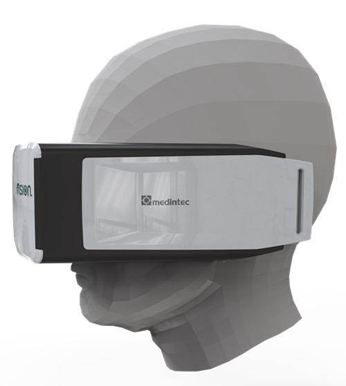 """Die 3D-Brille """"fVision""""."""