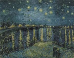 Vincent van Gogh, Sternennacht über der Rhone, 1888, Musée d'Orsay, Paris.