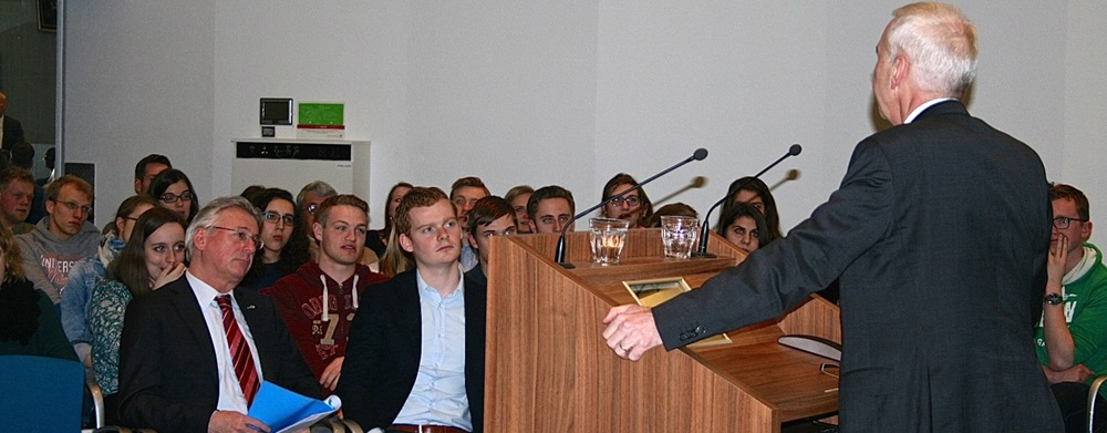 Der Deutsche Verein Nimwegen hatte den Botschafter zu einem Vortrag mit anschließender Diskussion eingeladen. Foto: Radboud Universiteit